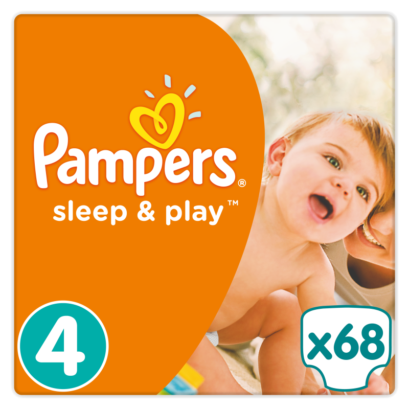 Памперс (pampers) подгузники sleep & play maxi 7-14 кг. 68 шт.